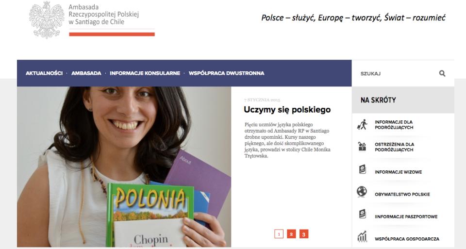Strona Ambasady RP w Chile